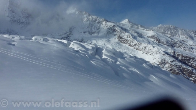 Gletscher spleten in SaasFee