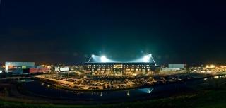 Panorama van het Ado Stadion