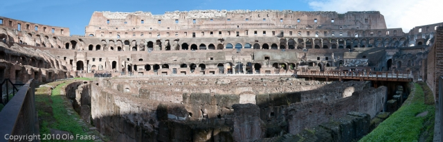 Panorama Colosseum in Rome